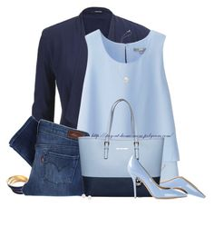 Shades of Blue by amber-1991 on Polyvore featuring polyvore moda style Uniqlo maurices Levi's Salvatore Ferragamo MICHAEL Michael Kors Tuleste Blue Nile women's clothing women's fashion women female woman misses juniors Blue michaelkors pearls SalvatoreFerragamo
