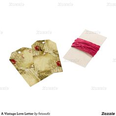 A Vintage Love Letter Pack Of Gift Tags