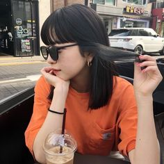 Korean Picture, Korean Aesthetic, Girl Photography Poses, Airport Style, Ulzzang Girl, Japanese Girl, Dyed Hair, Korean Girl, Cute Girls