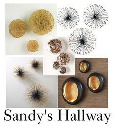 """Sandy hallway pt1"" by desireedutcher on Polyvore featuring interior, interiors, interior design, home, home decor, interior decorating, Global Views and Dot & Bo"