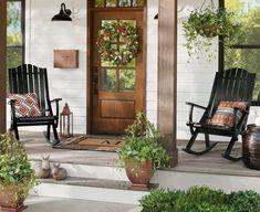 Front Door Planters, Urn Planters, Door Entryway, Spring Door, Spring Summer, Grandin Road, Porch Decorating, Greenery, Farmhouse Decor
