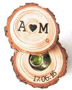 Rustic Wood Wedding Ring Box