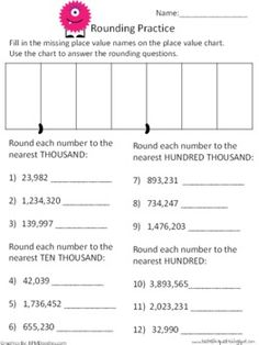math worksheet : rounding decimal and place value chart on pinterest : Rounding Decimals To Whole Numbers Worksheet