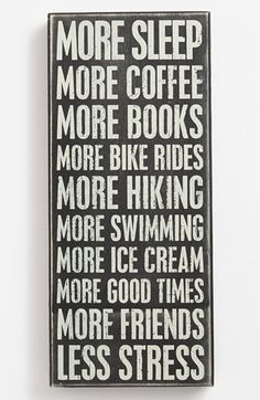 More, more, more, more and less