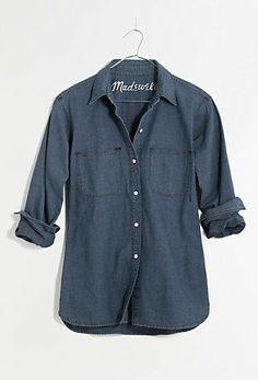 perfect chambray ex-boyfriend shirt #madewell