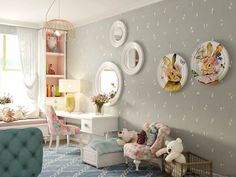 41 Best Kids Room Ideas Decoration and Creative - Pandriva Diy Home Decor Bedroom, Interior Design Living Room, Room Decor, Building For Kids, Little Girl Rooms, Fashion Room, Girls Bedroom, Kids Room, Child Room