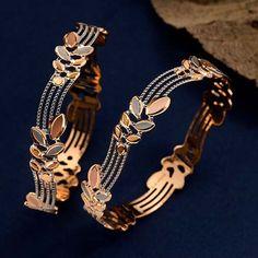 Buy 22K Casting Bangles for Women At jewelegance.com Gold Chain Design, Gold Bangles Design, Gold Jewellery Design, Gold Jewelry Simple, Gold Rings Jewelry, Simple Necklace, Jewelry Bracelets, Fancy Jewellery, Diamond Jewellery