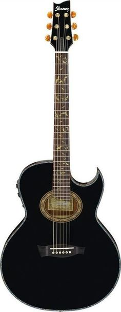 "Signature acoustic guitar model from the legendary Steve Vai. Enjoy the quality and tone of a ""no-compromise"" acoustic, custom designed by Steve Vai himself. Featuring a solid englemann spruce top wit"