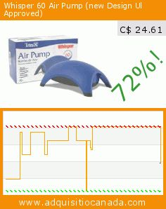Whisper 60 Air Pump (new Design Ul Approved) (Misc.). Drop 72%! Current price C$ 24.61, the previous price was C$ 87.99. https://www.adquisitiocanada.com/tetra/whisper-60-air-pump-new