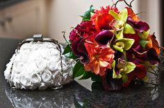 Modern fall bouquet  designed by Lilypots of Lake Geneva.