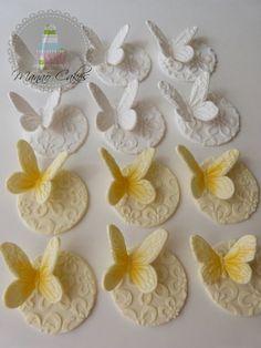 Topp de azúcar mariposas