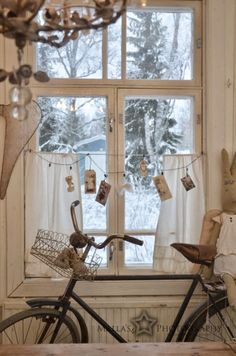Cute for porches. Shabby Home, Shabby Chic, Give Me Home, White Cottage, Through The Window, Linens And Lace, Winter House, Vintage Farmhouse, Scandinavian Style