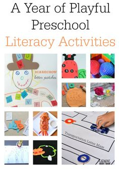 A year full of preschool themes loaded with hands-on activities that are all centered around play!