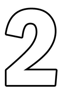 Number Stencils, Letter Stencils, Bible Crafts For Kids, Preschool Crafts, Mothers Day Coloring Pages, Free Printable Numbers, Numbers For Kids, Numbers Preschool, Diy Birthday Banner