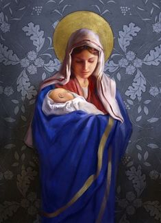 Pinterest Religious Pictures, Jesus Pictures, Blessed Mother Mary, Blessed Virgin Mary, Religious Paintings, Religious Art, Religion, Jesus Christ Images, Sainte Marie