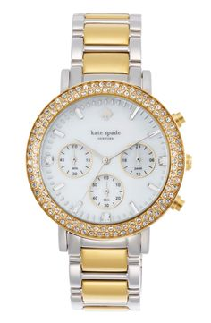 This sparkly two-toned Kate Spade watch is going on the wish list.