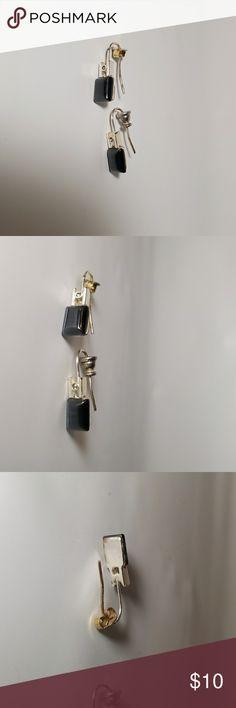 VINTAGE Blue Black Dangle Earrings VINTAGE Blue Black Dangle Earrings Unknown Jewelry Earrings