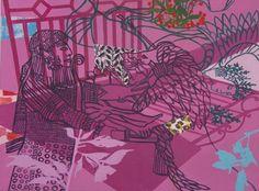 """Tricia Gillman - 'Magenta Hunter', oil on canvas, 39"""" x 47.25"""", 100 x 120 cm, 2008"""