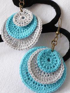 "The location where building and construction meets style, beaded crochet is the act of using beads to decorate crocheted products. ""Crochet"" is derived fro Crochet Jewelry Patterns, Crochet Earrings Pattern, Crochet Bracelet, Crochet Accessories, Crochet Designs, Jewelry Accessories, Crochet Diy, Cotton Crochet, Bead Crochet"
