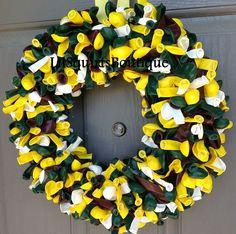 Greenbay Packers themed balloon wreath