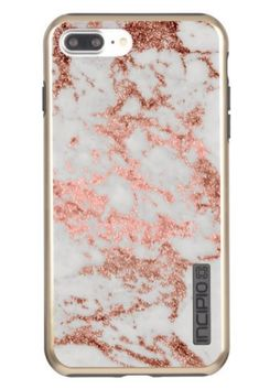 5b92945fb9862 Modern faux rose gold glitter marble texture image incipio DualPro shine   iphone7pluscasemarblerosegold  iphone7pluscasemarble