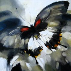 40 Outstanding Oil Painting on Animals 38 Butterfly Painting, Butterfly Watercolor, Butterfly Art, Watercolor Paintings, Oil Paintings, Love Painting, Painting & Drawing, Animal Tails, Insect Art