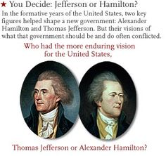 In the formative years of the United States, two key figures helped shape its new government: Alexander Hamilton and Thomas Jefferson. Their visions of what that government should be and do often conflicted.