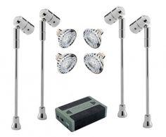 Led Battery Ed Lighting Spectrum Spotlight Kits Display System