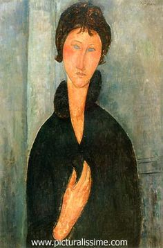 Modigliani, woman with the blue eyes