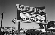 Drive In Church photo by Yale Joel, 1951