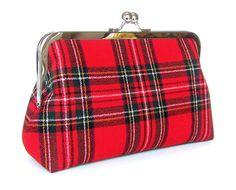 Royal Stewart Red tartán escocés lana embrague tartán por FABbyCAB, $60.00