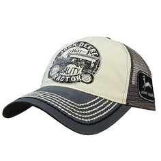 John Deere 13080288 Men's Charcoal Gray Quality Tractors Mesh Back Hat/cap for sale online Hat Stores, Stylish Hats, Cool Hats, Look Cool, Hats For Men, Baseball Cap, Tractors, Charcoal, Mesh