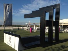 #construction and #mantling of the permanent platforms at the @ciudadraqueta for the cars of #Peugeot , official sponsor