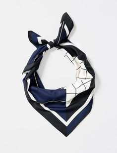 The Esther Graphic Scarf is the ultimate finishing touch to a standout uniform look. Versatility is endless with this graphic print allowing it to be folded 3 different ways to reveal a different design each time. Style as a headband or side neck knot Hotel Uniform, Complimentary Colors, Skinny Ties, Head And Neck, Neck Scarves, Graphic Prints, Navy And White, Casual Looks, Fashion Forward