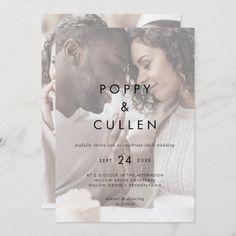 Chic Typography | Faded Photo Casual Wedding Invite. Click to customize with your picture and personalized details today. Casual Wedding Invitations, Wedding Invitation Size, Beautiful Wedding Invitations, Custom Invitations, Invitation Design, Invite, Rustic Save The Dates, Wedding Planning Inspiration, Reception Signs