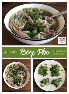 Slow Cooker Vietnamese Beef Pho + Bone Broth -- a super healthy, immune boosting soup that will have your feeling all warm and cozy.