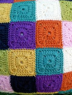 Crochet a cushion cover from basic Granny Squares.