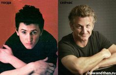 Sean Penn Celebs Then and Now photo Celebrities Before And After, Celebrities Then And Now, Then And Now Photos, Stars Then And Now, Hollywood Men, Hollywood Celebrities, Sean Penn Young, Age Progression, Mystic River