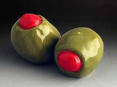 olives - salt and pepper shakers