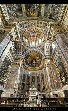 "Bologna- ""Basilica of San Domenico"" - Emilia Romagna Church Architecture, Beautiful Architecture, Katharina Von Siena, Places To Travel, Places To See, Bologna Italy, Cathedral Church, Chapelle, Landscape Photography"