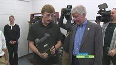 Governor Rick Snyder visited Kent Career Tech Center.