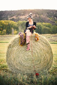 I want a picture of me taken like this with my yarn surrounding me!