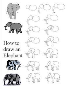 """elephant- my kids love these step by step guides for my """"I'm done!"""" bin"""