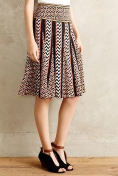 Ranna Gill Chevron Striped Skirt