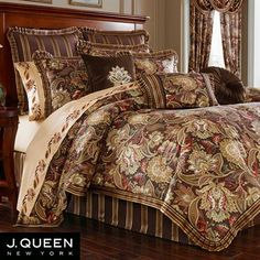 coventry jacobean floral comforter bedding by j queen new york