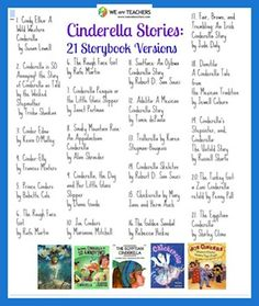 Books that feature fractured fairy tales - Cinderella Stories