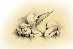 Angel Slumber Tattoo Design