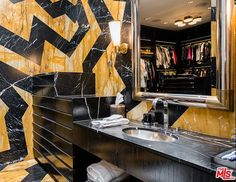 Gwen Stefani's closet even has a vanity to do your hair and makeup, which is essential for a performing artist.
