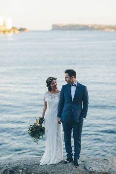 wedding photography, modest wedding dress, flower crown