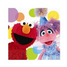 Create a spectacular party atmosphere with these Sesame Street Elmo Party Elmo and Abby Beverage Napkins. Elmo and Abby are ready to celebrate!Package includes beverage napkins to match your party themeEach paper napkin measur Elmo Birthday, 2nd Birthday Parties, Birthday Ideas, Happy Birthday, Sesame Street Party Supplies, Elmo And Friends, Elmo Party, Sesame Street Birthday, Party Stores